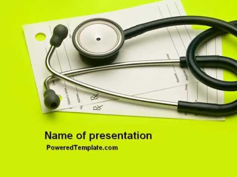 Phonendoscope With Medical Records PowerPoint Template by