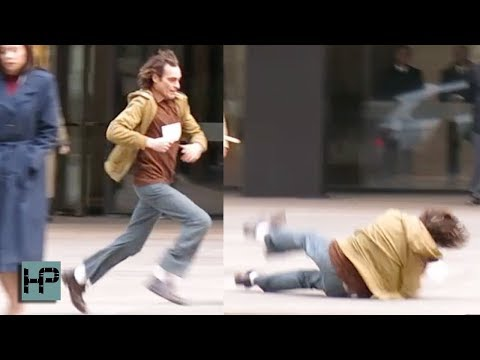 Joaquin Phoenix Takes a Hard Fall While Filming 'Joker' in NYC