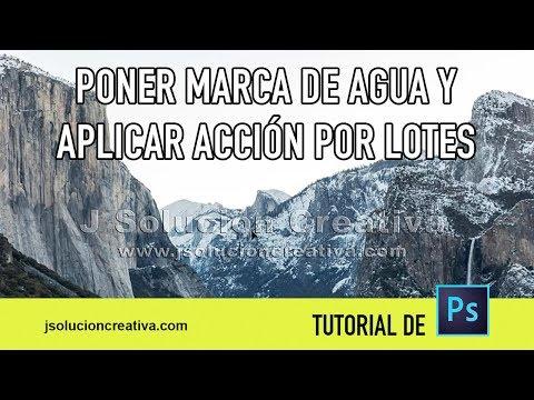 Cómo Crear Y Automatizar Marca De Agua Con Adobe Photoshop