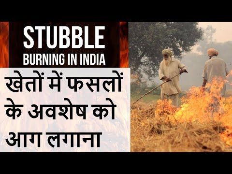 Stubble Burning in India ,  Issues and Organic Solutions for Agriculture pollution - UPSC/State PCS