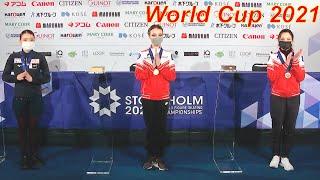 Анна Щербакова ПРОКОММЕНТИРОВАЛА Прокат Короткой программы на Чемпионате мира 2021