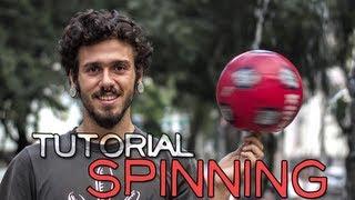 Como girar uma bola no dedo - How to spin a ball on your finger / spinning tutorial