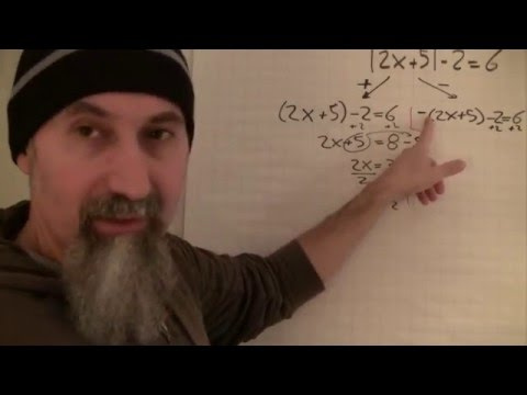 ASMR Math: Introduction to Solving Absolute Value Equations