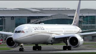 United Airlines Boeing 787-10 Dreamliner Departure at Dublin Airport