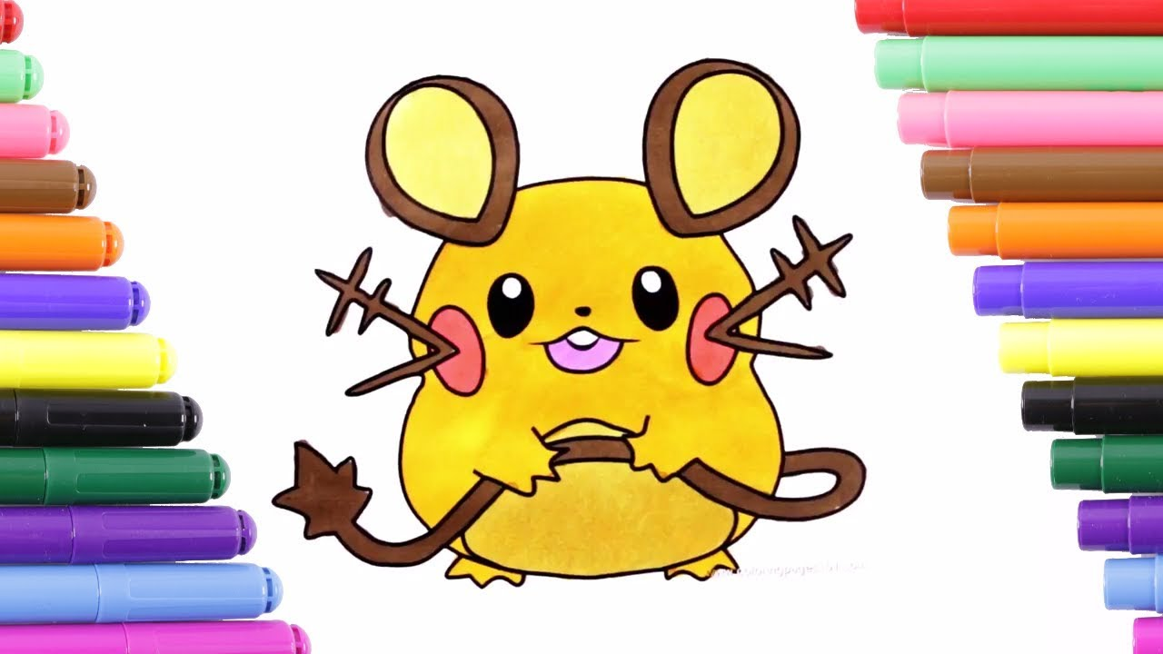 pokemon dedenne coloring page for kids coloring book