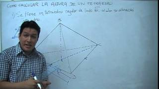 Como calcular la altura de un tetraedro