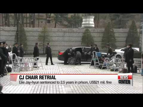CJ chairman sentenced to 2.5 years in prison, US$21 mil. fine for embezzlement