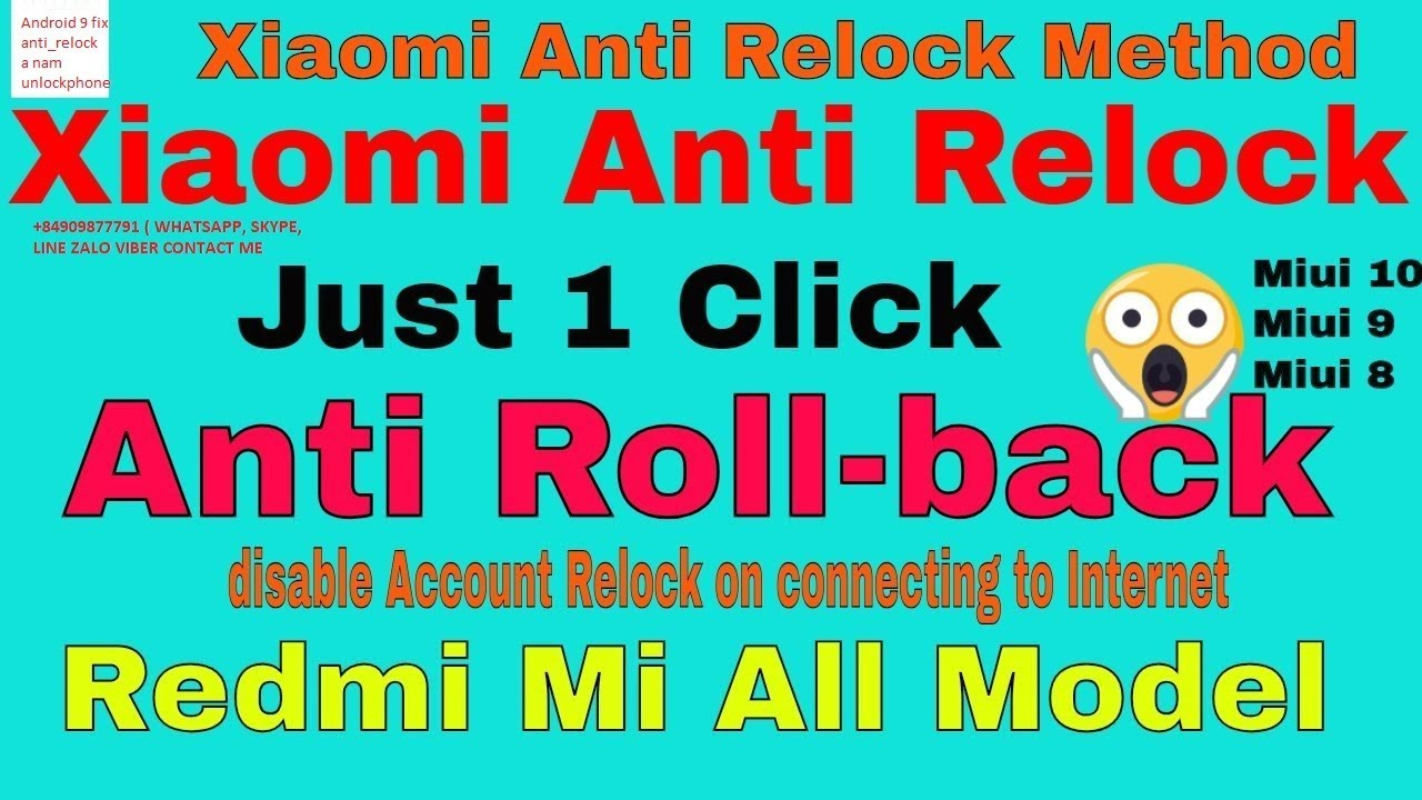 Redmi Note 5 Whyred Fix Anti Relock MIUI 10 ANDROID 9 Last Security