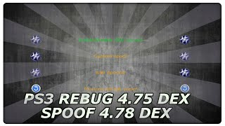 PS3 REBUG 4.75 DEX SPOOF 4.78 DEX / Deutsch​ Tutorial