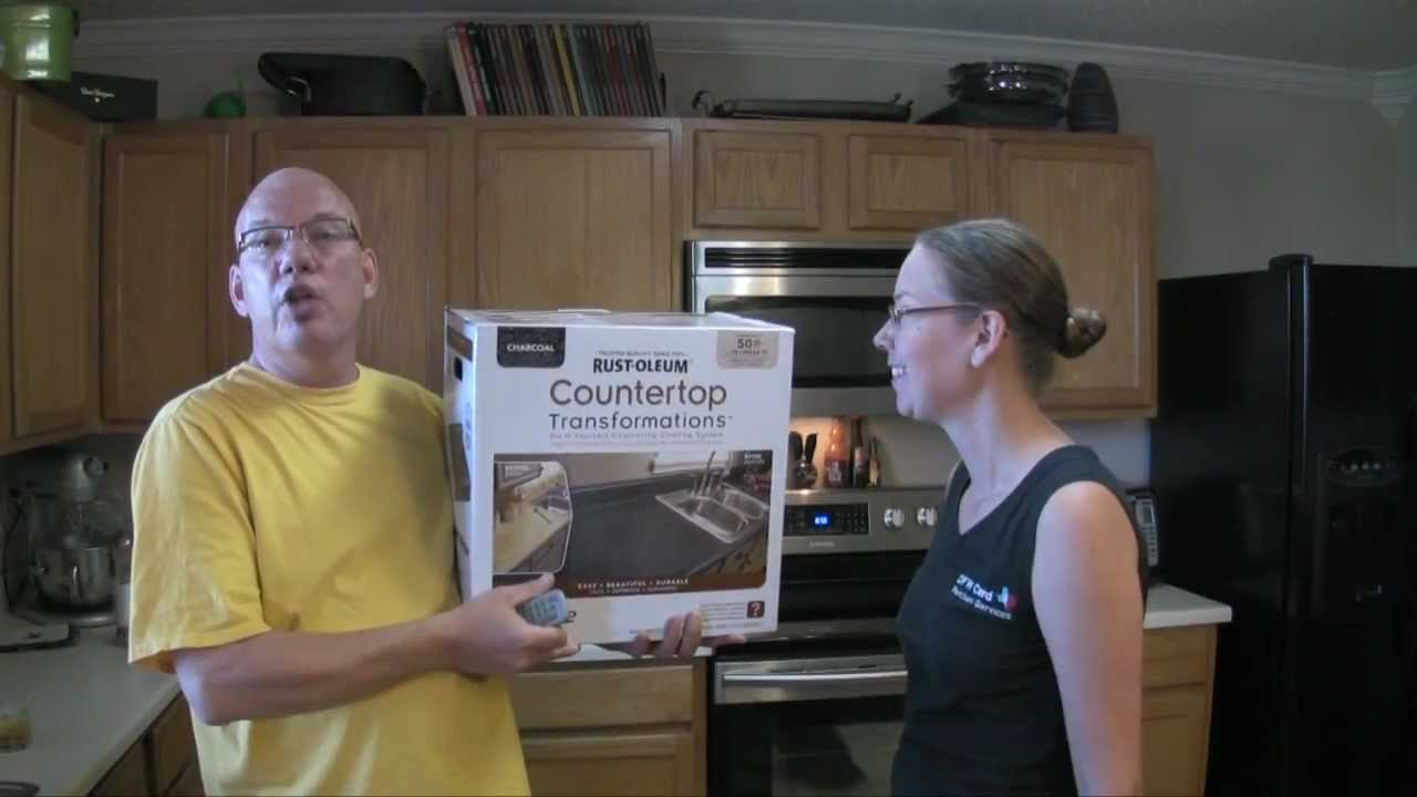 Rustoleum Kitchen Cabinets Rust Oleum Cabinet And Countertop Transformation Kits Youtube
