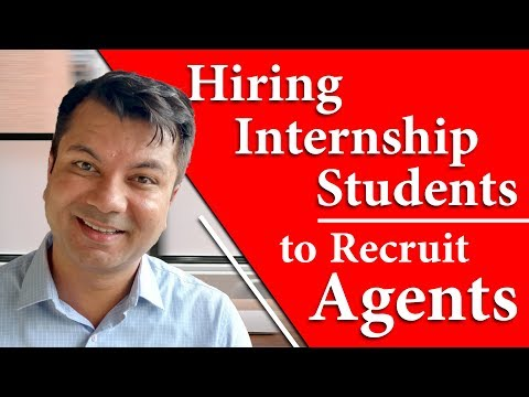 Hiring Internship Students to Recruit Agents [ HINDI ]