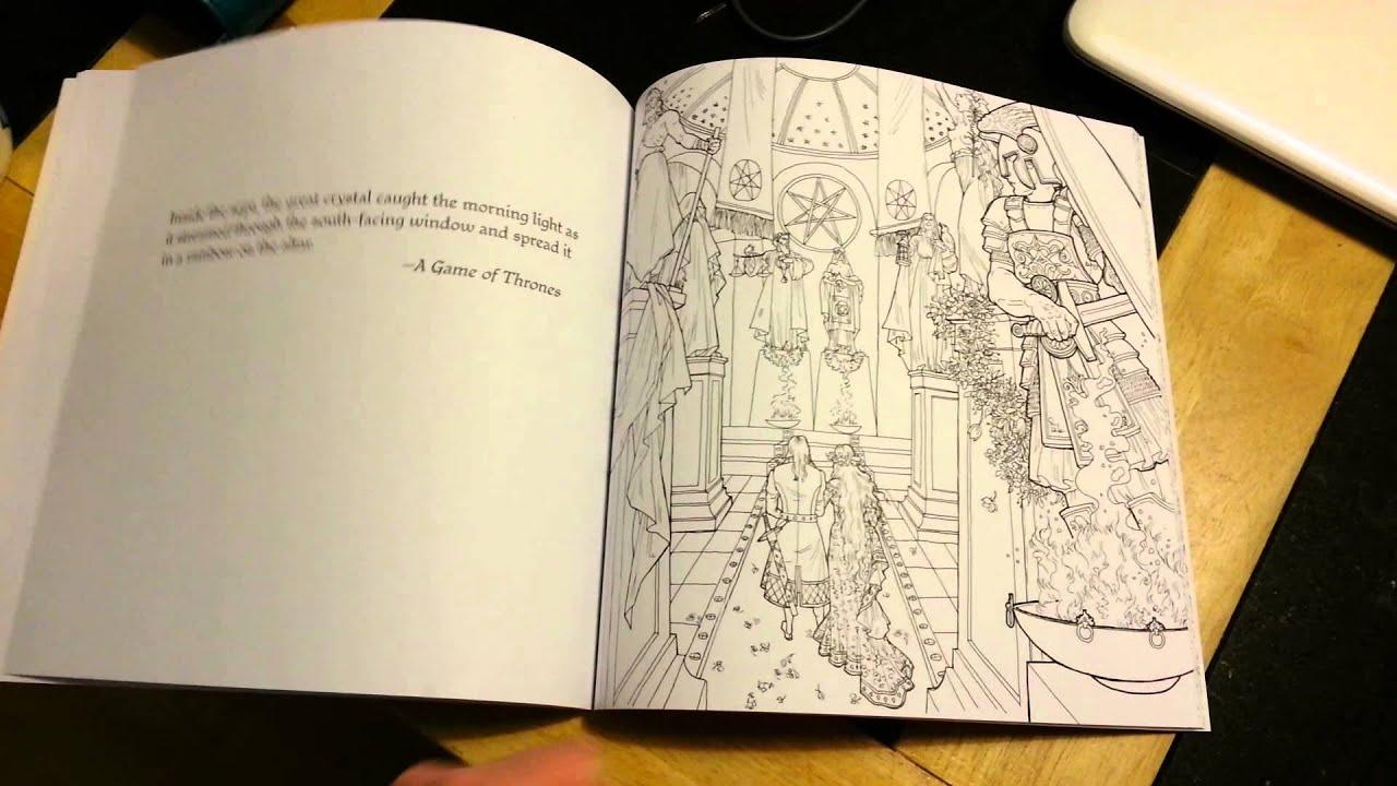 Game Of Thrones Colouring Book Flip Through