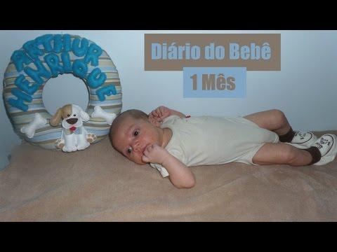 DIÁRIO DO BEBÊ- 1º Mês do Arthur Henrique   Thaís Cardoso