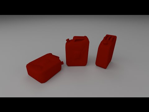 How to model a jerry can in blender