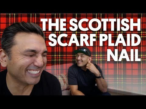 THE SCOTTISH SCARF PLAID NAIL (GEL NAILS) - VLOG 84