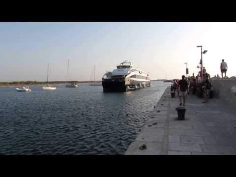 Croatian coast- Port on the island of the Union