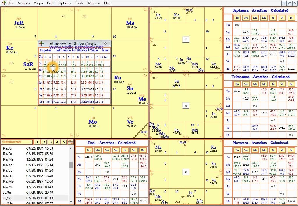 free indian vedic astrology software