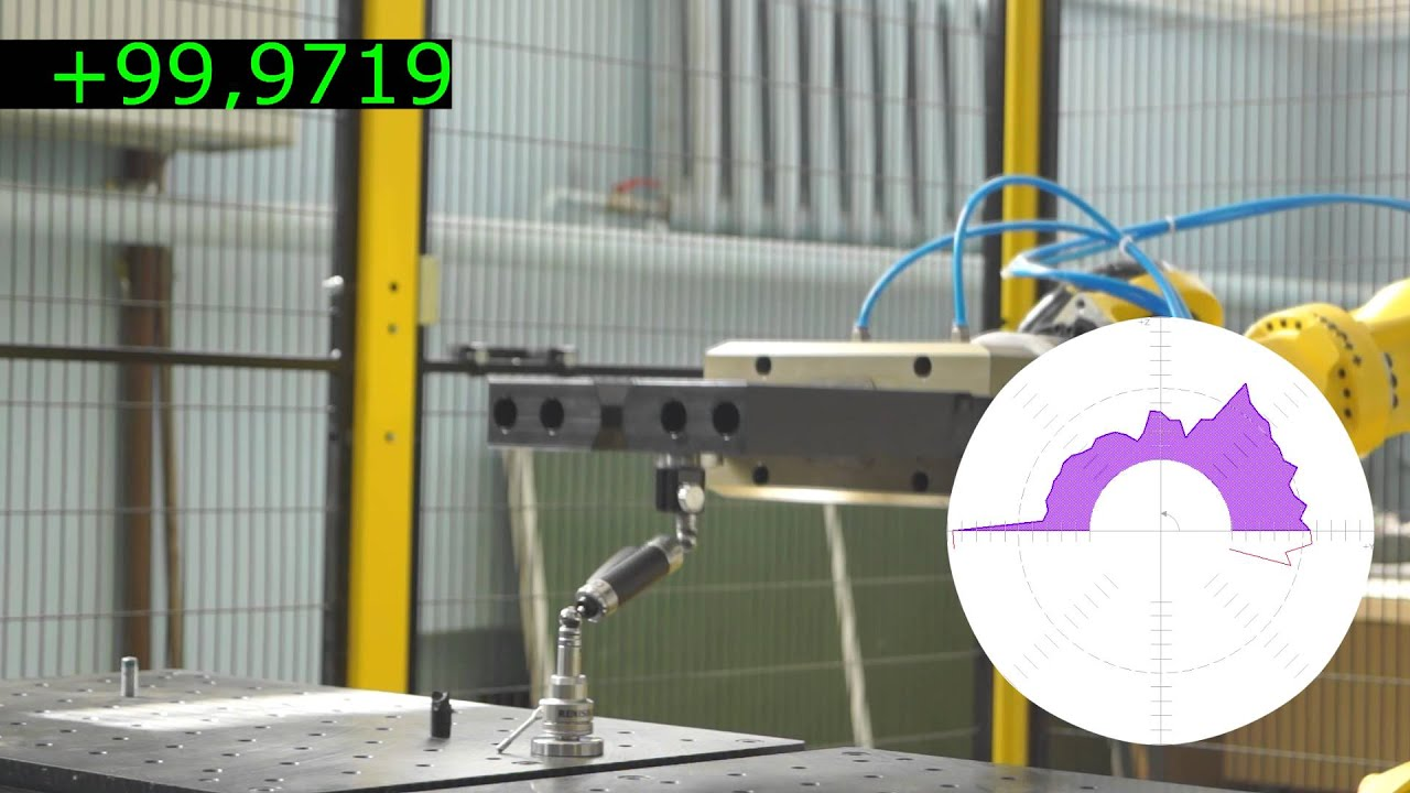 Test Fanuc robot with a Renishaw QC20-W telescoping ball bar
