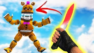 EXPERIMENT! GLOWING 1000 DEGREE KNIFE vs ANIMATRONICS! (Gmod FNAF Sandbox Funny Moments) Garry's Mod
