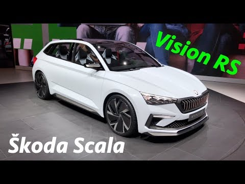 New Skoda Vision Rs Is Skoda Scala Soon To Replace The Rapid Youtube