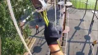 Крупнейший веревочный парк в России на искусственных опорах