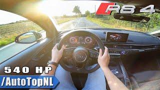 Audi RS4 B9 540hp Rennsport 2.9 TFSI Milltek Exhaust POV Test Drive by AutoTopNL