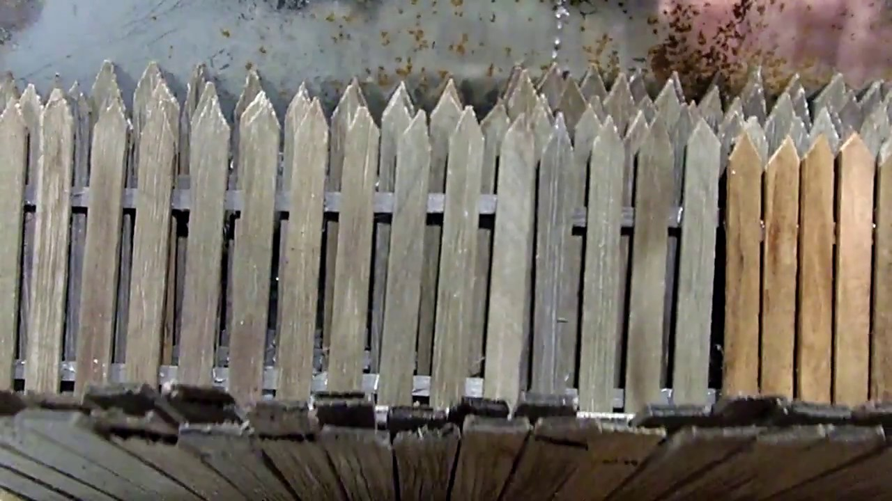 Diorama Tip For Weathered Wooden Fencing Youtube