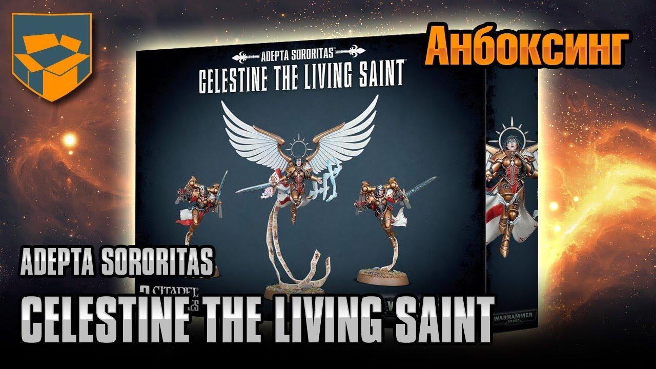 Анбоксинг - Adepta Sororitas - Celestine the Living Saint