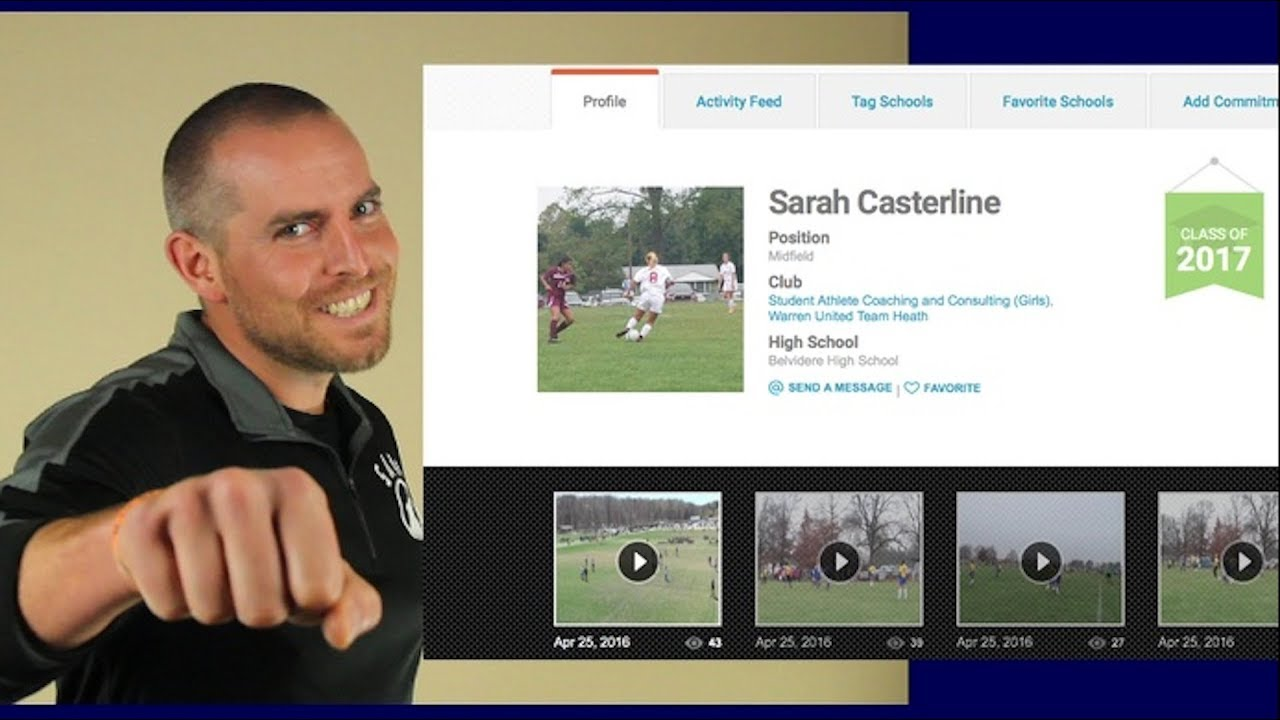 How to Create a College Recruiting Profile