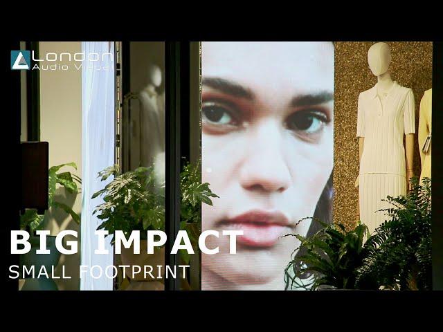 Store Window Advertising using LED Screens - LED Screen Innovation - Retail Advertising London AV