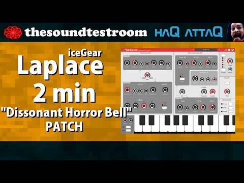 Laplace synth for iPad and iPhone │ Dissonant Horror Bell patch - haQ attaQ Synth Tweaks 10