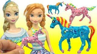 Princess Elsa Unicorn Glitter Anna Unicorn Hearts Paint Your Own How to
