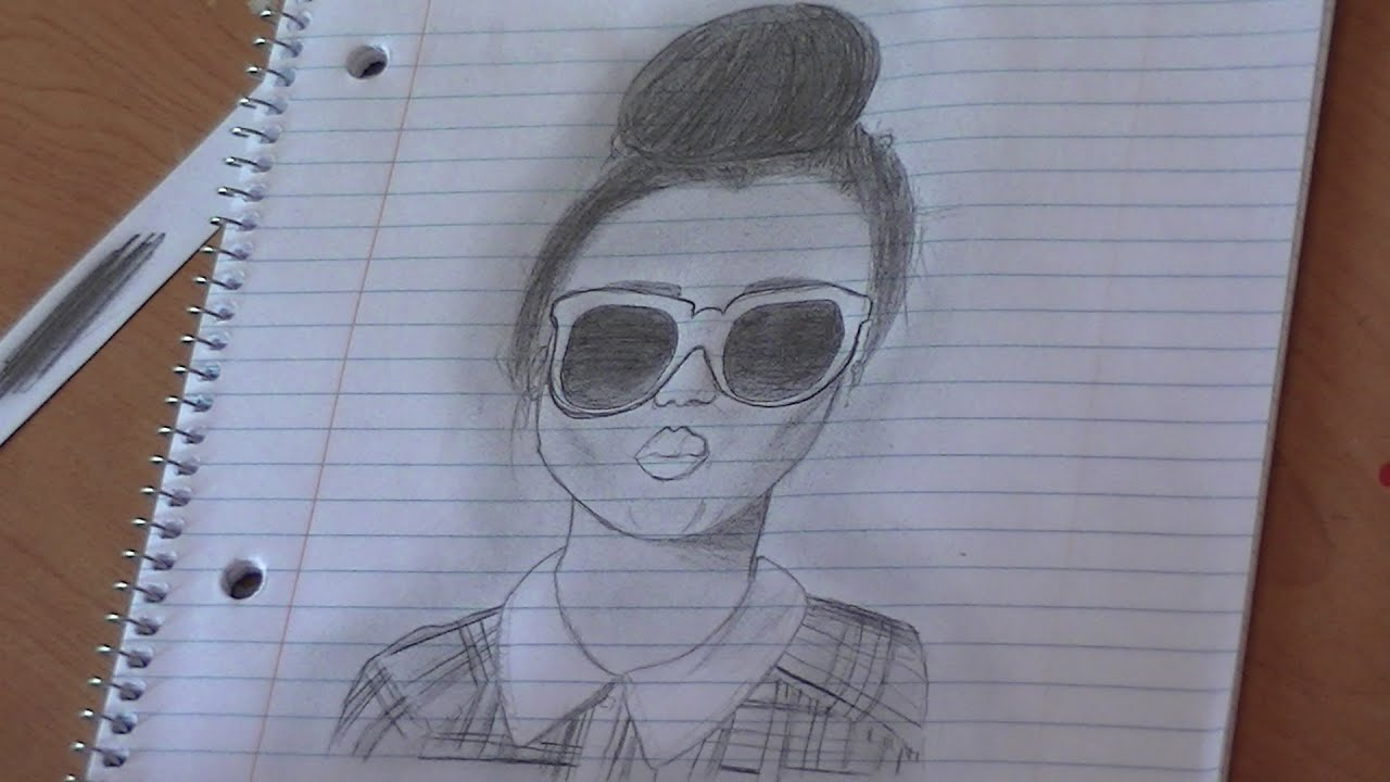i draw duckface bun girl from seventeen magazine youtube