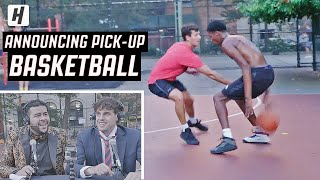 ANNOUNCING AND ROASTING PICK-UP BASKETBALL IN NEW YORK CITY! | Broadcast Boys