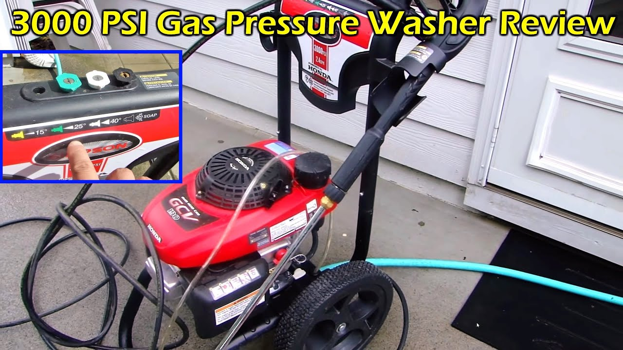 Pressure Washing Back Patio Simpson 3000 PSI Gas Pressure Washer