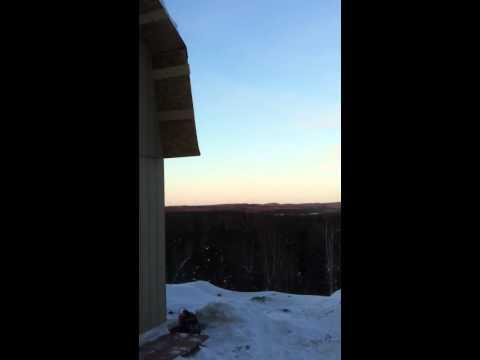 Wind turbine in Alaska, 60 mph winds
