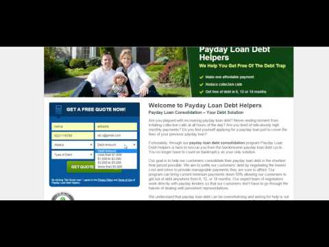 Payday Loan Debt Consolidation Help