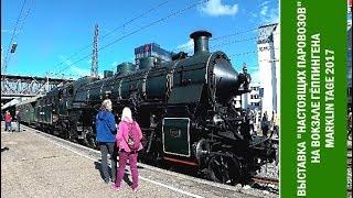 Путевые Заметки/Выставка Marklin Tage 2017: выставка 'настоящих паровозов' на вокзале Гёппинген