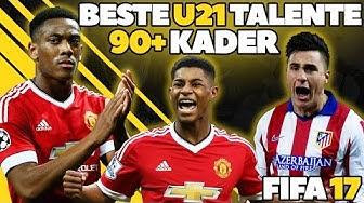 FIFA 17: BESTE TALENTE OHNE TRAINING! U21 90+ KADER! KARRIERE POTENZIAL   HD Deutsch