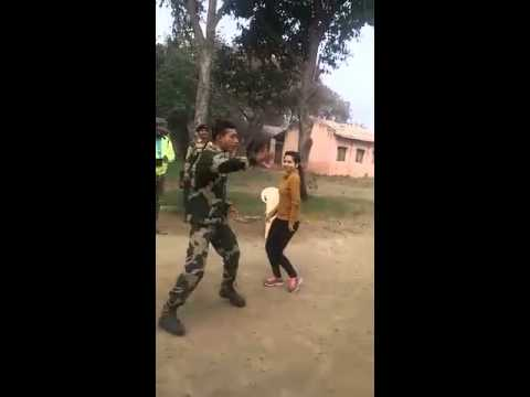 Indian army dancing on (chikni chameli)