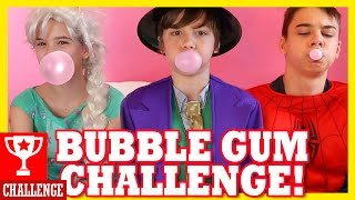 BUBBLE GUM CHALLENGE! Spiderman & Frozen Elsa vs Joker! Superhero Fun in Real Life! |  KITTIESMAMA