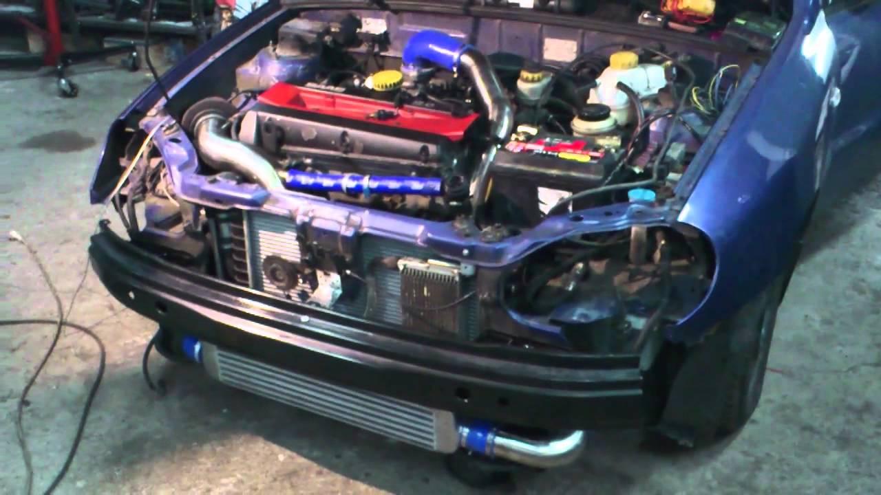 Daewoo Lanos 2.0 16V T B204L Saab - YouTube