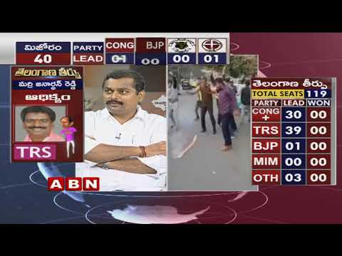 Telangana Elections Results LIVE | TRS Leads in 39,Congress 30 | ABN Telugu