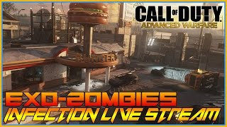 CoD Advanced Warfare DLC 2 - EXO ZOMBIES INFECTION - BURGER TOWN (XBOX ONE GAMEPLAY)-LIVESTREAM