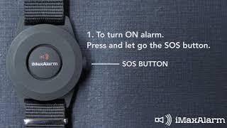 iMaxAlarm -  Emergency SOS Alarm Operation