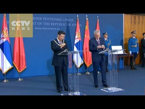 Chinese President and his Serbian counterpart give statements