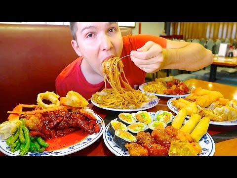Massive Chinese Buffet • All You Can Eat • MUKBANG