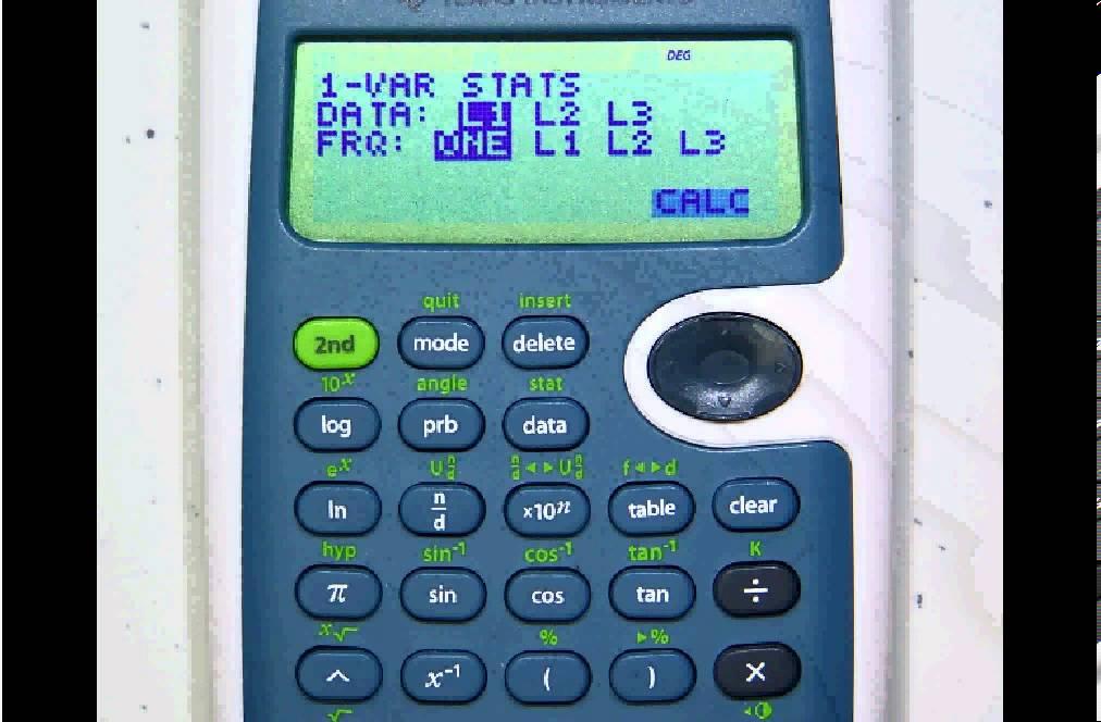 B 012 Calculator shortcut TI 30 XS - YouTube