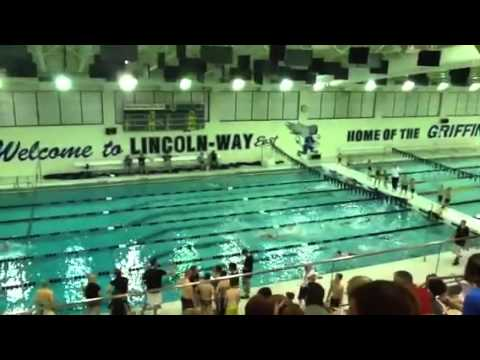 Mia Swimming At Lincoln Way East High School June 2013 Youtube