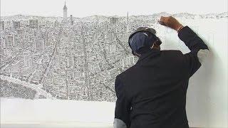 驚異の記憶力を持つ自閉症のアーティスト、記憶だけでメキシコシティのパノラマ図を完全再現